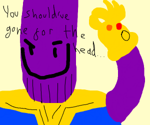 Thanos about to snap