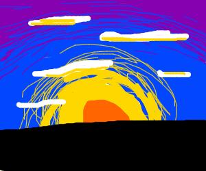 beautiful Arabian sky