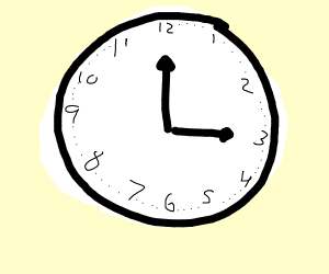 Incomplete clock