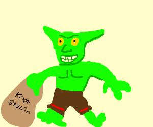 A goblin with a definitely-not-stolen bag
