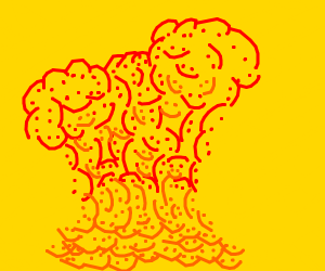explosion of happy faces with yellow back