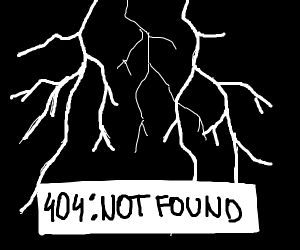 Lightning strikes a 404 error