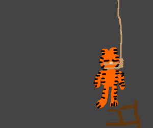 Garfield commiting suicide