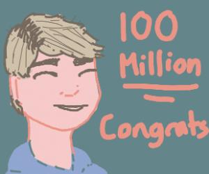 PewDiePie got 100 million subs on youtube!