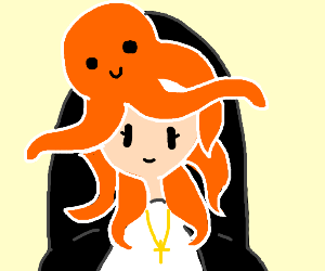 Nun with Octopus hair