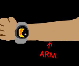 A watch but it's a moon