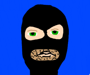 Crimanal in ski mask