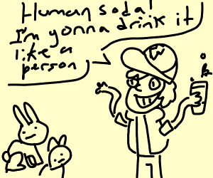 bill cipher is a person and is taking bunnies