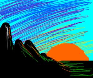 mountainside sunrise