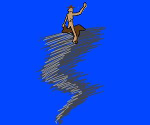 skinny nibba riding a tornado