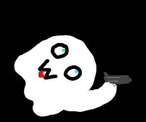 OwO ghost is mad and has a gun help