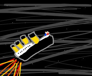 Titanic becomes a spaceship