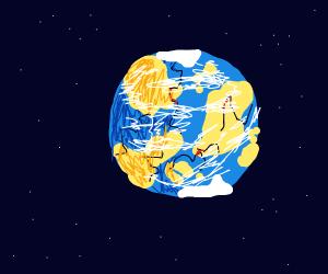 Earth cracking apart
