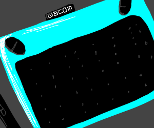a wacom drawing tablet