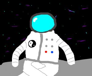 Meditating spaceman