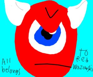 Red, greedy Mike Wazowski
