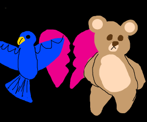 Birb and bear break up