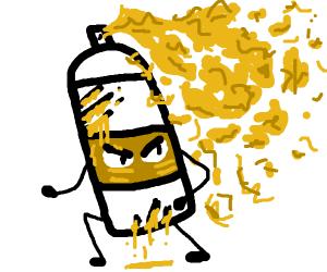 sprayable cheese gone rogue