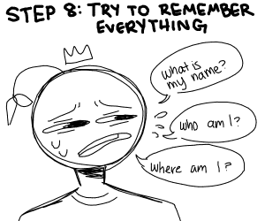 Step 7: lose your memory