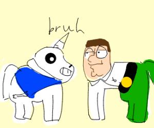 My little pony bs sans vs Peter griffin