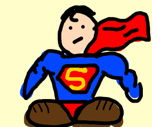 Superman wearing Shoes