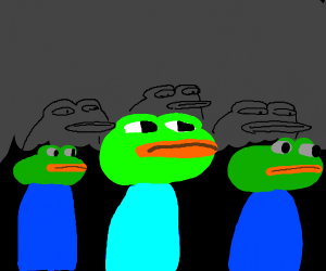 pepes stalks from the shadows