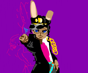 A furry as Jotaro