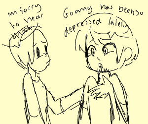 goomy is depressed and two guys discuss it