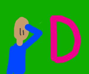Man Salutes D
