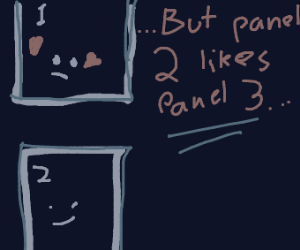 Pannel 1 likes pannel 2
