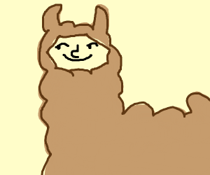 Alpaca with Lenny Face