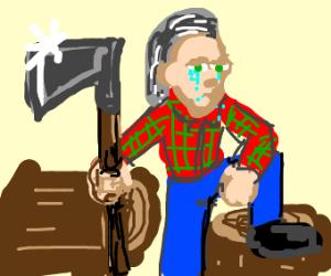 Crying lumberjack