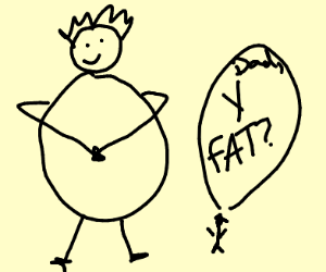 Why are you fat dad, asks tiny boy