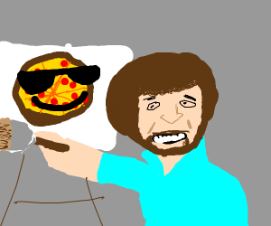 bob ross made a cool pizza