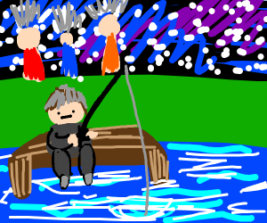 A party goes on, but the fisherman don't care