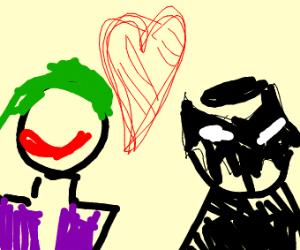 batman and the joker making love