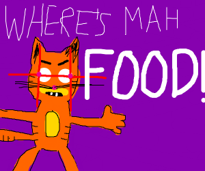 Garfield is angry cause he didnt get food