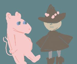 wizard w/ a cute hippo dude