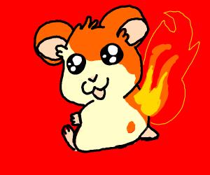 hamster on fire?