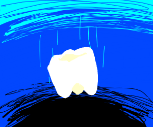 Tooth  Going to the  bottom of the ocean