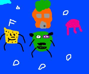 Steve Harvey invades Spongebob