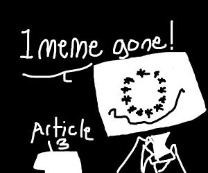 1 meme off