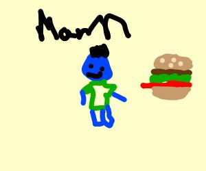 Blue man BIG BURGER