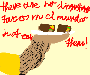 deskusting taco