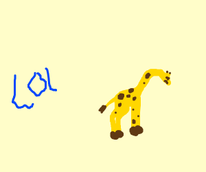sad giraffe who's bad at LOL