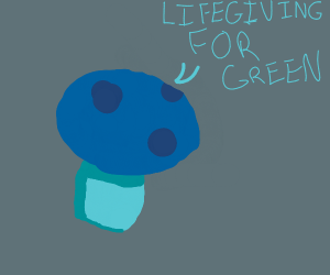 Hovering Mushroom cries lifegiving for green