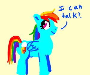 A talking horse