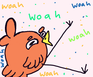 Bird saying WOAH