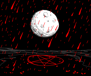 Satanic rite causes blood rain.