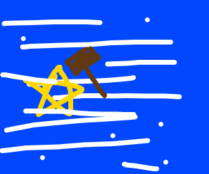 star getting hammered in a blizzard